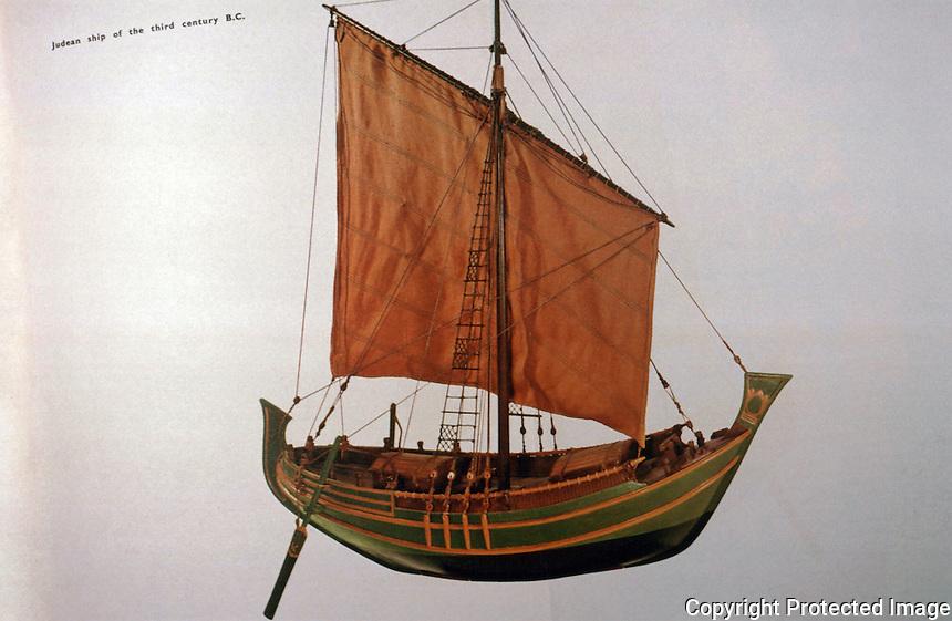 World Civilization:  Ancient Ships--Judean Ship, 3rd C.  B.C.