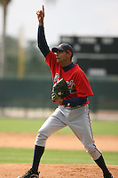 March 23rd 2008:  Angelo Paulino of the Atlanta Braves minor league system during Spring Training at Disney's Wide World of Sports in Orlando, FL.  Photo by:  Mike Janes/Four Seam Images