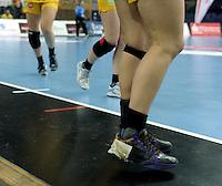 Handball Frauen / Damen  / women 1. Bundesliga - DHB - HC Leipzig : Frankfurter HC - im Bild: Feature - Wechsel Beine Spielerwechsel . Foto: Norman Rembarz .