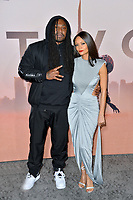"""LOS ANGELES, CA: 05, 2020: Marshawn Lynch & Thandie Newton at the season 3 premiere of HBO's """"Westworld"""" at the TCL Chinese Theatre.<br /> Picture: Paul Smith/Featureflash"""
