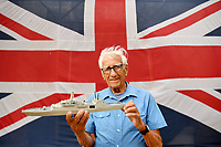 BNPS.co.uk (01202) 558833<br /> Pic: ZacharyCulpin/BNPS<br /> <br /> Pictured: Best of British - Phillip Warren with his new model of HMS Glasgow which is now on display at a new exhibition at the Nothe Fort in Weymouth<br /> <br /> A master modeller who was inundated with hundreds of rare matchboxes after appealing for donations has used them to build a 3ft long aircraft carrier.<br /> <br /> Now Philip Warren has added the impressive model to his so-called matchbox fleet of miniature ships which have gone on display in an exhibition.<br /> <br /> Mr Warren's 72 year pastime of building model warships had looked as though it had come to an end earlier this year when he ran out of the traditional wooden boxes he used to make the hull and decks.<br /> <br /> But the 90-year-old was sent more than 300 of the lightweight matchboxes made from aspen wood in response to his plea for more.