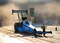 Oct 11, 2019; Concord, NC, USA; NHRA top fuel driver Leah Pritchett during qualifying for the Carolina Nationals at zMax Dragway. Mandatory Credit: Mark J. Rebilas-USA TODAY Sports