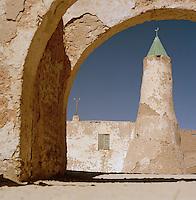 Ancient Minaret, near Germa, Libya