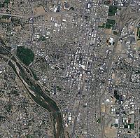 aerial photo map of Albuquerque, New Mexico