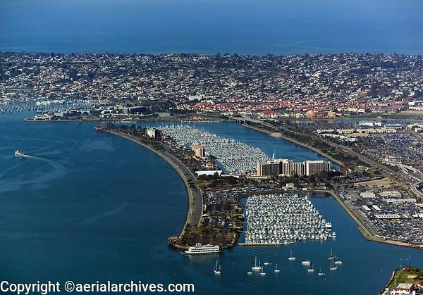 aerial photograph of Harbor Island, San Diego, California