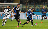 Calcio, Serie A: Inter vs Juventus. Milano, stadio San Siro, 18 ottobre 2015. <br /> FC Inter's Gary Medel, right, in action during the Italian Serie A football match between FC Inter and Juventus, at Milan's San Siro stadium, 18 October 2015. The game ended 0-0.<br /> UPDATE IMAGES PRESS/Isabella Bonotto