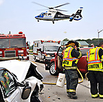 A two-vehicle, head-on crash on US Route 36 between Covington and Bradford, claimed the life of one person, sent another to Miami Valley Hospital aboard CareFlight and a third to Upper Valley Medical Center. The crash occurred around 1 p.m. when a white car drifted left of center into oncoming traffic and struck a red car head-on. The passenger in the red car was pronounced dead at the scene while the driver was transported aboard CareFlight. the driver of the white car was taken by Covington Rescue Squad. A crash reconstruction team from the Miami County Sheriff's Office is investigating the crash.