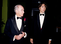 Pierre Eliott Trudeau (R) and his son Justin (L) <br /> enters the Bonsecour Market where a fundraiser event his held, September 1996, in Montreal, CANADA.<br /> <br /> Justin annonced he may be a Liberal Candidate in the2007 next Canadian election. <br /> <br /> Pierre Eliott Trudeau was Prime Minister of Canada from<br /> 1968ñ1979 and 1980-1984.  He died September 28, 2000<br /> <br /> <br /> Photo : (c) 1996.  Pierre Roussel - images Distribution