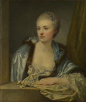Full title: Portrait of a Lady (Madame de Gléon?)<br /> Artist: French<br /> Date made: about 1760<br /> Source: http://www.nationalgalleryimages.co.uk/<br /> Contact: picture.library@nationalgallery.co.uk<br /> <br /> Copyright © The National Gallery, London
