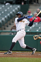 Trenton Thunder shortstop Jose Pirela #21 during a game against the Portland Sea Dogs at Waterfront Park on May 4, 2011 in Trenton, New Jersey.  Trenton defeated Portland by the score of 7-1.  Photo By Mike Janes/Four Seam Images