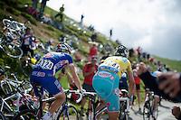 yellow jersey Vincenzo Nibali (ITA/Astana)<br /> <br /> 2014 Tour de France<br /> stage16: Carcassonne - Bagnères-de-Luchon (237km)