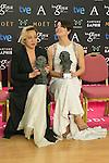 Barbara Lennie and Carmen Machi attend the 2015 Goya Award Winners Photocall at Auditorium Hotel, Madrid,  Spain. February 08, 2015.(ALTERPHOTOS/)Carlos Dafonte)