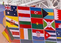 Flags<br /> Swimming Nuoto Kazan Arena<br /> Day10 02/08/2015 Morning Heats<br /> XVI FINA World Championships Aquatics Swimming<br /> Kazan Tatarstan RUS July 24 - Aug. 9 2015 <br /> Photo G.Scala/Deepbluemedia/Insidefoto