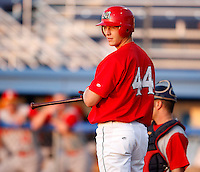 August 6, 2009:  Outfielder Kyle Conley of the Batavia Muckdogs during a game at Dwyer Stadium in Batavia, NY.  The Muckdogs are the Short-Season Class-A affiliate of the St. Louis Cardinals.  Photo By Mike Janes/Four Seam Images
