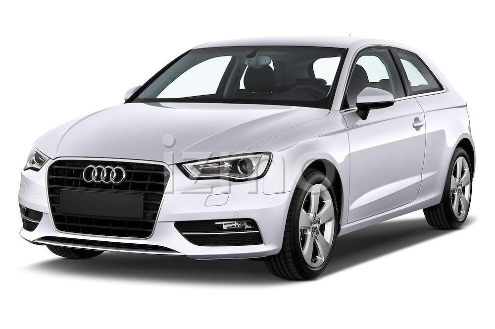 Front three quarter view of a 2013 - 2014 Audi A3 Ambition 3-Door Hatchback.