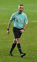 Referee Sebastian Stockbridge<br /> <br /> Photographer Dave Howarth/CameraSport<br /> <br /> EFL Trophy - Northern Section - Group G - Blackpool v Leeds United U21 - Wednesday 11th November 2020 - Bloomfield Road - Blackpool<br />  <br /> World Copyright © 2020 CameraSport. All rights reserved. 43 Linden Ave. Countesthorpe. Leicester. England. LE8 5PG - Tel: +44 (0) 116 277 4147 - admin@camerasport.com - www.camerasport.com