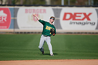 Siena Saints left fielder Matt Hamel (6) throws during a game against the UCF Knights on February 17, 2019 at John Euliano Park in Orlando, Florida.  UCF defeated Siena 7-1.  (Mike Janes/Four Seam Images)