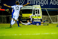 Friday 27 October 2017<br /> Pictured: Swans Claim a penalty <br /> Re: Swansea City U23 v Everton U23 Premier League 2 match at the Landore Training facility, Swansea, Wales, UK