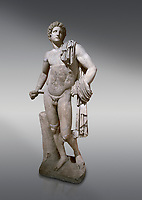 Roman statue of Apollo .Marble. Perge. 2nd century AD. Antalya Archaeology Museum; Turkey.