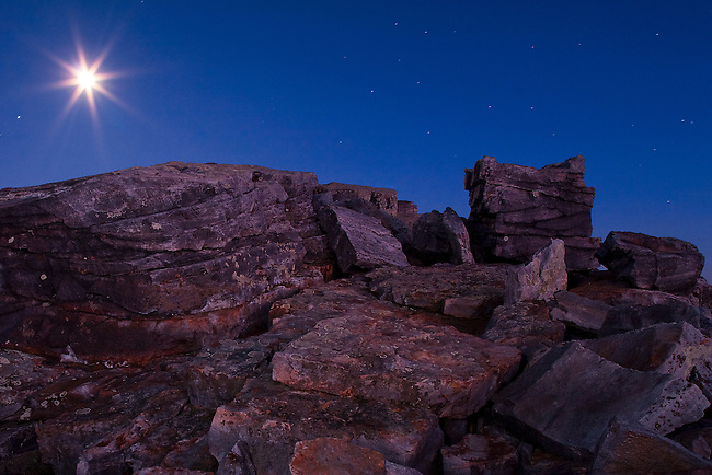 Moonrise as viewed from Blackrock Summit, Appalachian Trail, Shenandoah National Park, VA