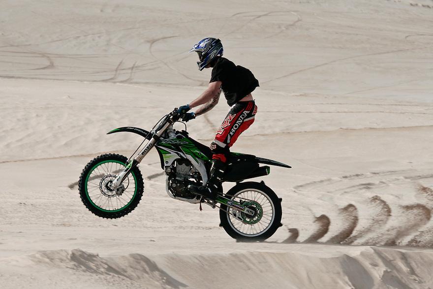 Sportsbiking in the desert