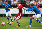 Aberdeen v St Johnstone...28.06.15  Glebe Park, Brechin..Pre-Season Friendly<br /> Willo Flood and Scott Brown<br /> Picture by Graeme Hart.<br /> Copyright Perthshire Picture Agency<br /> Tel: 01738 623350  Mobile: 07990 594431