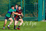 Micheal O Geibheannaigh Dingle & Sean O Shea Kenmare in their senior club championship semi final in Kenmare on Sunday.