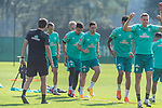 15.09.2020, Trainingsgelaende am wohninvest WESERSTADION - Platz 12, Bremen, GER, 1.FBL, Werder Bremen Training<br /> <br /> Aufwaermtraining<br /> <br /> Leonardo Bittencourt  (Werder Bremen #10)<br /> Kevin Möhwald / Moehwald (Werder Bremen #06)<br /> Niklas Moisander (Werder Bremen #18 Kapitaen)<br /> Milos Veljkovic (Werder Bremen #13)<br /> Ludwig Augustinsson (Werder Bremen #05)<br /> Henrik Frach (Athletik-Trainer SV Werder Bremen )<br /> <br /> Foto © nordphoto / Kokenge