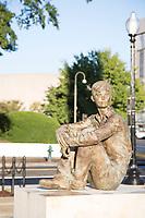 Eisenhower Memorial, Washington DC, USA. Eisenhower as a Young Boy, Sculpture by Sergey Eylanbekov.