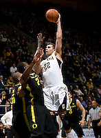 Harper Kamp of California shoots the ball during the game against Oregon at Haas Pavilion in Berkeley, California on February 16th, 2012.  California defeated Oregon, 86-83.