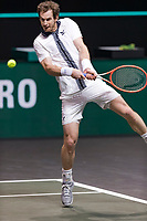 Rotterdam, The Netherlands, 3 march  2021, ABNAMRO World Tennis Tournament, Ahoy, Second round match:  Andy Murray (GBR).<br /> Photo: www.tennisimages.com/henkkoster