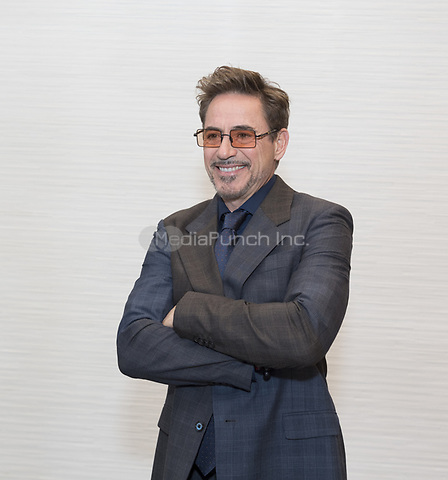 "Robert Downey Jr, who stars in 'Avengers: Endgame"", at the InterContinental Hotel in Los Angeles. Credit: Magnus Sundholm/Action Press/MediaPunch ***FOR USA ONLY***"