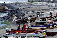 Fischereihafen in Ponta do Sol, Santo Antao, Kapverden, Afrika