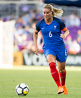 Orlando City, FL - Wednesday March 07, 2018: Amanine Henry during a 2018 SheBelieves Cup match between the women's national teams of Germany (GER) and France (FRA) at Orlando City Stadium.