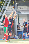 Mannheim, Germany, September 12: During the 1. Bundesliga men fieldhockey match between Mannheimer HC and Hamburger Polo Club on September 12, 2020 at Am Neckarkanal in Mannheim, Germany. Final score 2-0. (Copyright Dirk Markgraf / www.265-images.com) *** Constantin Staib #11 of Hamburger Polo Club, Linus Mueller #10 of Mannheimer HC