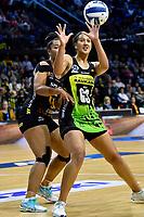 Aliyah Dunn of the Pulse during the ANZ Premiership Netball - Pulse v Magic at TSB Bank Arena, Wellington, New Zealand on Sunday 30 May 2021.<br /> Photo by Masanori Udagawa. <br /> www.photowellington.photoshelter.com