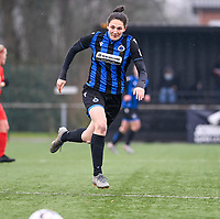 Frieke Temmerman (17) of Club Brugge pictured during a female soccer game between Club Brugge Dames YLA and White Star Woluwe on the 12 th matchday of the 2020 - 2021 season of Belgian Scooore Womens Super League , saturday 30 January 2021  in Brugge , Belgium . PHOTO SPORTPIX.BE | SPP | DAVID CATRY