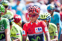 Castellon, SPAIN - SEPTEMBER 7: Nairo Quintana during LA Vuelta 2016 on September 7, 2016 in Castellon, Spain
