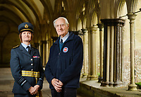 BNPS.co.uk (01202 558833)<br /> Pic: ZachCulpin/BNPS<br /> <br /> Norman Parker pictured with Air Marshall Sue Gray at Salisbury Cathedral today.<br /> <br /> A campaign to build a memorial to honour the women and children who built over 2,000 Spitfires in secret to help win the Second World War has been launched.<br /> <br /> The little-known operation involved just a few hundred people who operated in requisitioned car garages, factories and workshops in the city of Salisbury.<br />  <br /> They built the legendary aircraft in piecemeal and worked with such discretion that the Wiltshire city's inhabitants were oblivious to it. <br /> <br /> The unsung workers were so prolific they accounted for one tenth of all Spitfires produced during the war.
