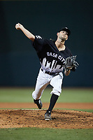 Winston-Salem Dash relief pitcher Jordan Mikel (33) in action against the Asheville Tourists at Truist Stadium on September 17, 2021 in Winston-Salem, North Carolina. (Brian Westerholt/Four Seam Images)