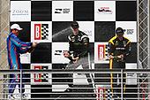2017 Verizon IndyCar Series<br /> Honda Indy Grand Prix of Alabama<br /> Barber Motorsports Park, Birmingham, AL USA<br /> Sunday 23 April 2017<br /> Josef Newgarden, Team Penske Chevrolet, Scott Dixon, Chip Ganassi Racing Teams Honda, Simon Pagenaud, Team Penske Chevrolet celebrate with champagne on podium<br /> World Copyright: Phillip Abbott<br /> LAT Images<br /> ref: Digital Image abbott_barber_0417_6650