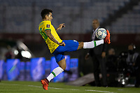17th November 2020; Centenario Stadium, Montevideo, Uruguay; Fifa World Cup 2022 Qualifying football; Uruguay versus Brazil; Roberto Firmino of Brazil brings down a high pass