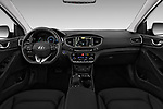 Stock photo of straight dashboard view of 2017 Hyundai Ioniq-Electric Electric-Limited 5 Door Hatchback Dashboard