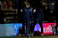 23rd February 2021; Kenilworth Road, Luton, Bedfordshire, England; English Football League Championship Football, Luton Town versus Millwall; Millwall Manager Gary Rowett celebrates the late equaliser from George Evans for 1-1