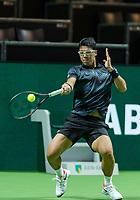 Rotterdam, The Netherlands, 11 Februari 2019, ABNAMRO World Tennis Tournament, Ahoy, first round singles: Hyeon Chung (KOR),<br /> Photo: www.tennisimages.com/Henk Koster
