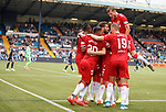 04.08.2019 Kilmarnock v Rangers: Borna Barisic jumps in to celebrate with Scott Arfield and co