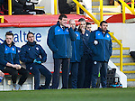 Aberdeen v St Johnstone…27.02.16   SPFL   Pittodrie, Aberdeen<br />A nervous loking Tommy Wright<br />Picture by Graeme Hart.<br />Copyright Perthshire Picture Agency<br />Tel: 01738 623350  Mobile: 07990 594431