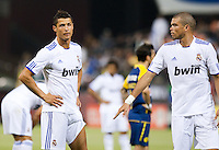 Cristiano Ronaldo (left) and Pepe (right). Real Madrid defeated Club America 3-2 at Candlestick Park in San Francisco, California on August 4th, 2010.