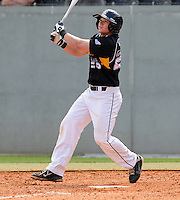 First baseman Trey Holmes (26) of the Appalachian State Mountaineers in a game against the Wofford College Terriers on April 28, 2012, at Russell C. King Field in Spartanburg, South Carolina. (Tom Priddy/Four Seam Images)