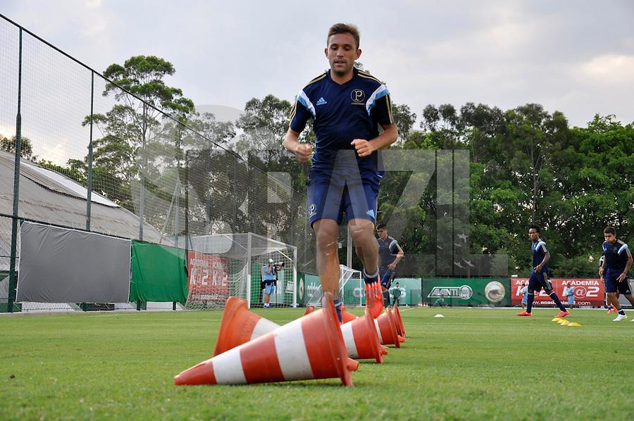 SÃO PAULO.SP. 19.01.2015 - PALMEIAS TREINO - Allione meia do Palmeiras durante o treino na Academia de Futebol zona oeste na tarde desta segunda feira 19. ( Foto: Bruno Ulivieri / Brazil Photo Press )